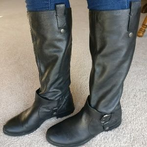 Tall sz 9 Black Leather Boots